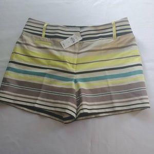 "Ann Taylor LOFT Women Multicolor Striped 4"" Inseam"